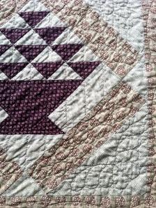 Corner detail - basket quilt