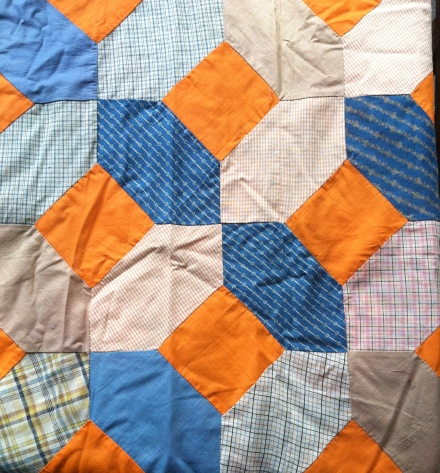 section of the quilt top